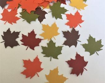 Fall Maple Leaf Confetti l Autumn Paper Confetti l Thanksgiving Table Decor  l Maple Leaf Die Cuts