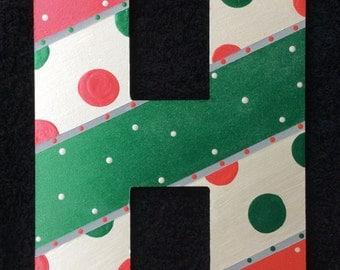 Shimmering Christmas Hanging Letter