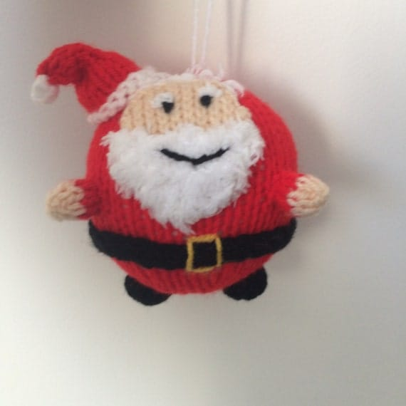 santa bauble knitting pattern christmas decoration pattern crochet amigurumi holidays decoration
