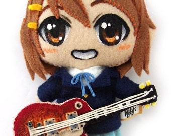 YUI HIRASAWA (Guitar) handmade plush from K-ON!