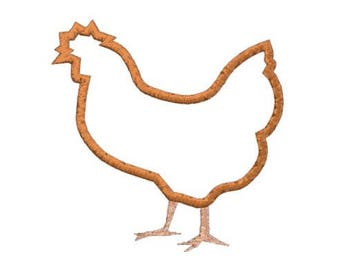 Embroidery Applique File Design Pattern Hen, Chicken
