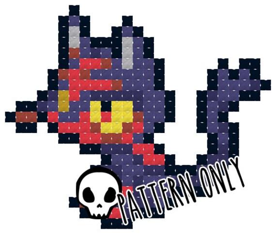 Pokemon Litten Cross Stitch Pattern From PixieBonesShop On