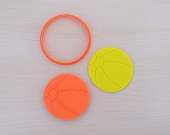 Beach Ball Cookie Cutter and Stamp Set