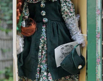 "Vintage ANNE Of GREEN GABLES 16"" Porcelain Doll~ Avonlea Traditions~ Exclusive from Green Gables Heritage Site Canada~ New in Box~Beautiful!"