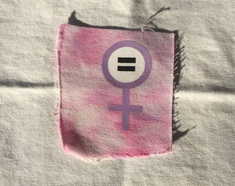 Female Equality Pastel Tie Dye Cloth Patch