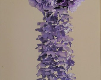 Paper lantern; Paper flower chandelier
