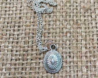 Boho Charm Necklace, Boho Coin Necklace, Coin Necklace, Bohemian Necklace, Boho Silver Necklace, Small Coin Necklace, Native American