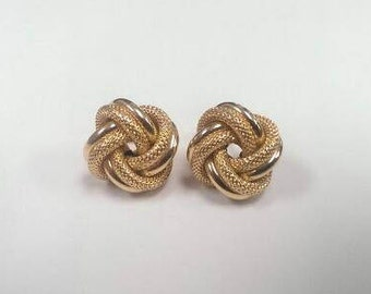 18k Yellow Gold Love Knot Earrings
