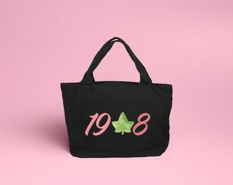 Pink & Green 1908 Ivy Tote - AKA Sorority Bag