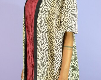 Vintage Zebra Print (Oversized) Kimono Style Cardigan