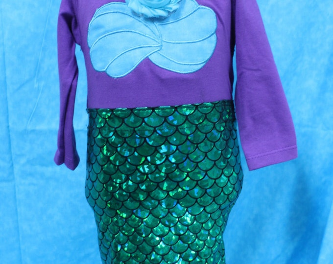 Mermaid costume,Halloween costume,Ariel costume,Purple mermaid,blue irredescent mermaid tail dress,Tropical mermaid costume Halloween