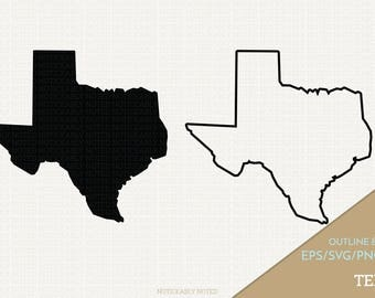 Texas Vector, State Clipart, TX Clip Art, Texas SVG, State PNG  (Design 13714)
