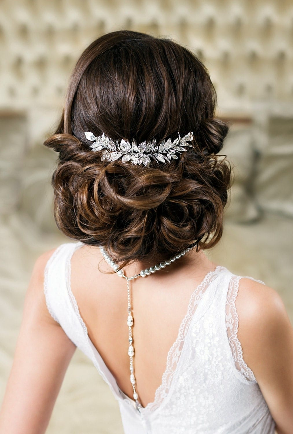 leaf hair comb bridal hair comb wedding hair piece grecian. Black Bedroom Furniture Sets. Home Design Ideas