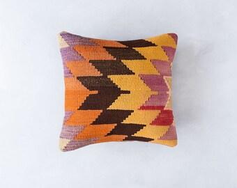 Vintage Turkish Kilim Pillow Cover, Bohemian Decorative Pillow, Boho Pillow, Southwestern Pillow, Turkish Kilim, Purple Kilim, Boho Cushion