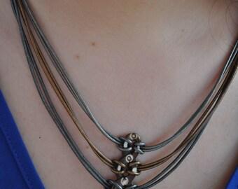 Carved Bone Spider Necklace