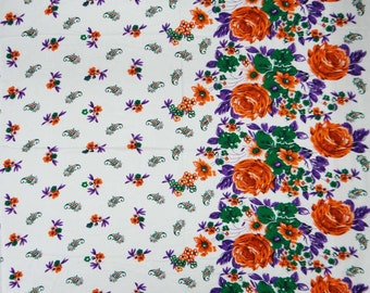 """Designer Fabric, Floral Print, Quilting Fabric, Sewing Decor, Dress Fabric, Home Accessories, 42"""" Inch Rayon Fabric By The Yard ZBR17"""