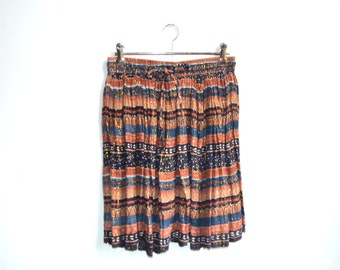 Indian gauze, gypsy, bohemian mini skirt