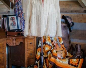Vintage 1960s white rabbit fur coat