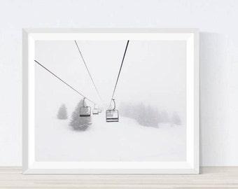 Ski lift, Ski Lift Chair, Chair Lift, Snowboard Decor, Winter, Ski Decor, Wall Art, Winter Photography, Snow, Winter Landscape, #M5