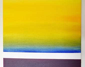 Rothclouds - abstract horizons - Original oil painting on canvas 2/3