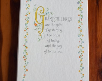 Grandchildren are the gifts of yesterday, the pride of today, and the joy of tomorrow/Hallmark photo album/picture album/Grandparent/storage