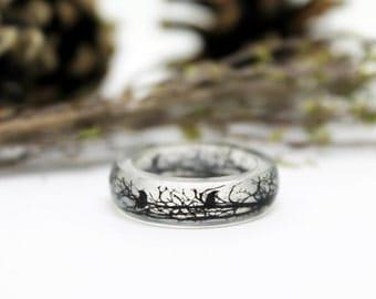 Raven Ring - Totem Ring - Bird Ring - Animal Ring - Crow Ring - Raven ring -  Pagan Ring - Woodland Jewelry - Gothic ring