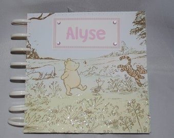 Classic Winnie the Pooh Personalized 8 x 8 Photo/Scrapbook for Girl
