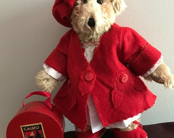 Claudette The Traveling Designer Teddy Bear