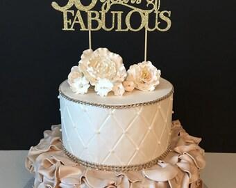 Any Name Glitter Happy Sweet 16 Birthday Cake Topper Sweet
