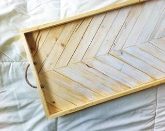 Wood Serving Tray | Geometric Serving Tray | Wood Breakfast Tray | Modern Wood Tray | Wood Wall Art | Wood Tray | Geometric Tray