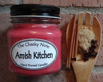 Brown Sugar Candle, Amish Kitchen Candle, Cinnamon Candle, Nutmeg Candle, Soy Candle, Scented Candle, Vegan Soy Candle, Handmade Soy Candle