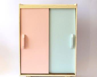Okwa Dolls Closet | Cabinet | Armoire | Toy Closet | Barbie | Vintage Tiny Furniture