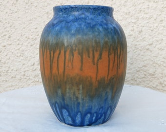 Collectable Ruskin Pottery Crystalline Drip Glaze Vase, Dated 1930