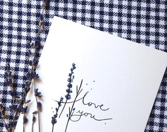 LOVE YOU Valentines Day Card Birthday Cards for Her Funny Greeting Cards Handmade Cards Funny Card Paper Handmade Greeting Cards Blank Card