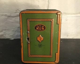 Burnett Ltd Safe Money Box Tin Made in England
