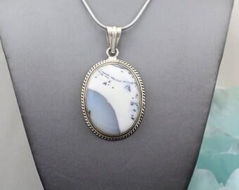 Silvernatural large oval agate pendant
