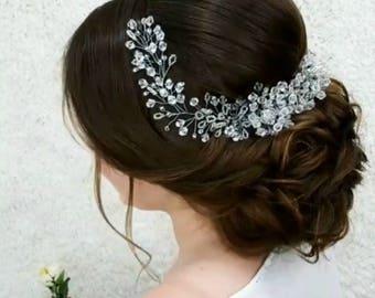Bridal Hair Vine Long Baby Breath Hair Piece Wedding Hair Vine