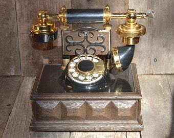 Antique Telephone - Vintage Telephone - Rotary Telephone - Deco-Tel Phone - Antique Rotary Phone - Western Bell Retro Phone - SweetVintageTX