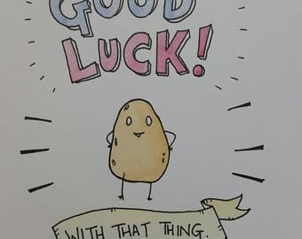 Good Luck! With that thing. Greeting Card