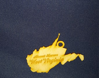 West Virginia Almost Heaven state ornament