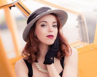 Pepita Hat 40s 50s Matelot