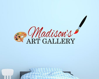 Custom children's art display.  Personalized art gallery wall decal.  Bedroom wall decal. Playroom wall decal. Display area for drawings