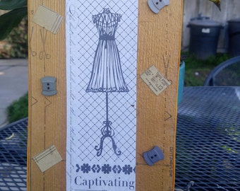 Captivating Fashion and  Sewing Sign