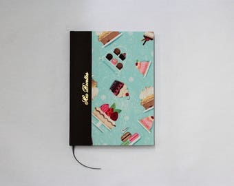 Recipe book, for your favorite recipes, by hand, cookery book paged with table of contents