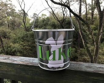 He is Risen Personalized Easter Bucket