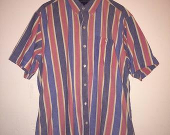 Vintage Striped Short Sleeve Shirt