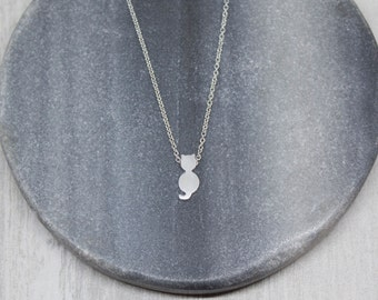 Necklace cat silver