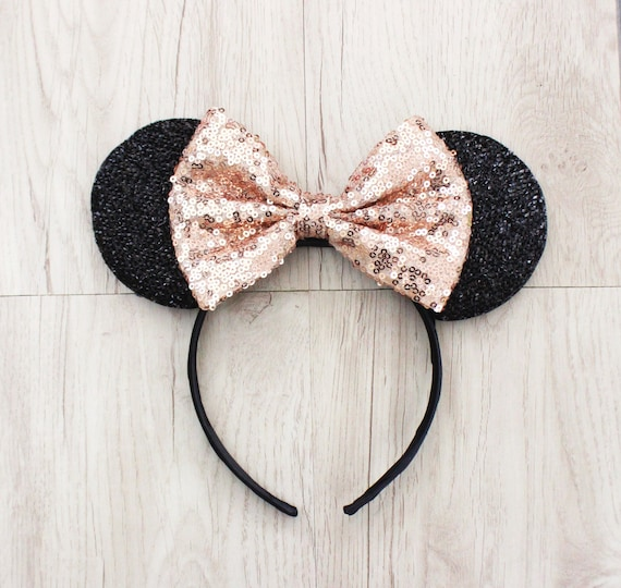 rose gold minnie mouse ears gold disneyland ears gold. Black Bedroom Furniture Sets. Home Design Ideas