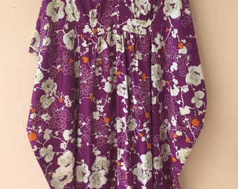 Vintage Hawaiian Floral MuuMuu Dress