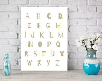 ABC poster | Alphabet fun for kids | Printable